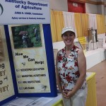 Educational displays at the 2015 Honey Booth