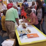 Candlemaking at the 2015 Honey Booth